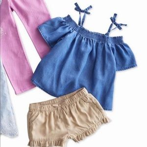 Crazy 8 Toddler Girls Off The shoulder woven Top